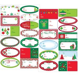 Winter Christmas Adhesive Gift Tags 156ct