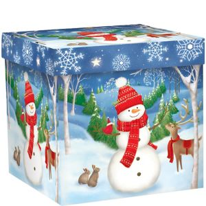 8Woodland Snowman Gift Box