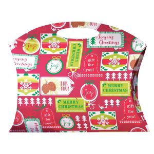 Contemporary Christmas Pillow Box Bag