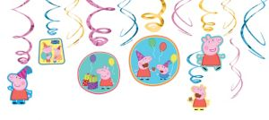 Peppa Pig Swirl Decorations 12ct
