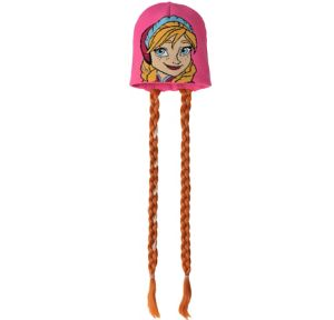 Child Anna Beanie with Braids - Frozen