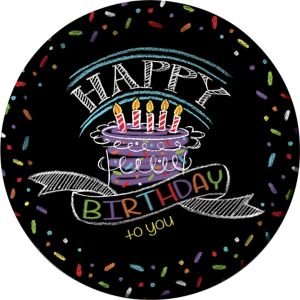 Chalkboard Birthday Lunch Plates 8ct