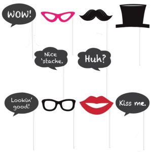Chalkboard Photo Booth Props 12pc