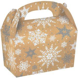 Snowflake Kraft Gable Boxes 5ct