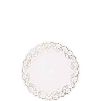 White Round Paper Doilies 40ct