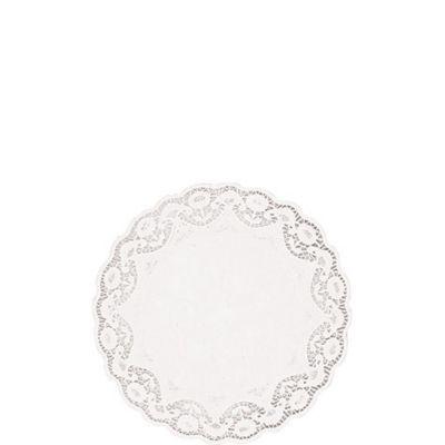 White Round Doilies 40ct