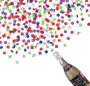 Colorful Happy New Year Bottle Confetti Popper