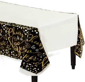 Bubbly Celebration New Year's Table Cover