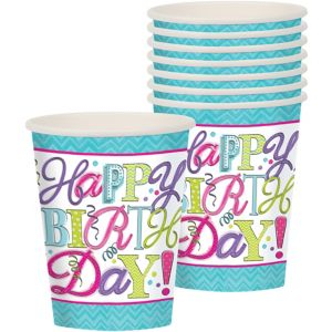 Sweet Birthday Cups 8ct
