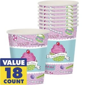 Pastel Birthday Sweets Cups 18ct