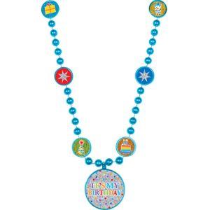 Prismatic Rainbow Dot Birthday Necklace