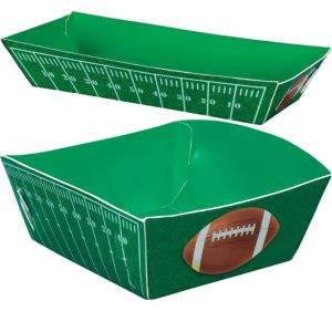 Football Field Paper Food Trays 16ct