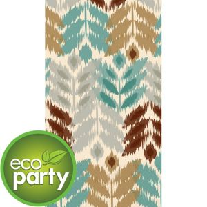Eco-Friendly Leaf Ikat Guest Towels 16ct