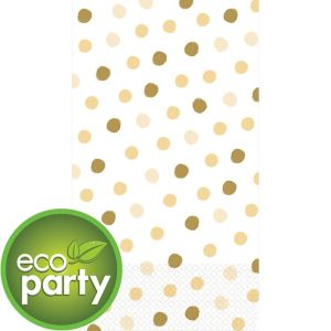 Eco-Friendly Whimsical Cream Dots Guest Towels 16ct
