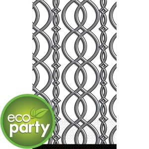 Eco-Friendly Elegant Gray Chain Guest Towels 16ct