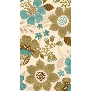 Jacobean Floral Guest Towels 16ct
