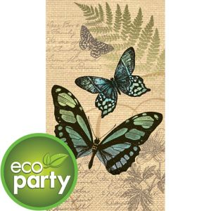 Eco-Friendly Butterfly Guest Towels 16ct