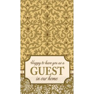 Welcome Guest Damask Guest Towels 16ct
