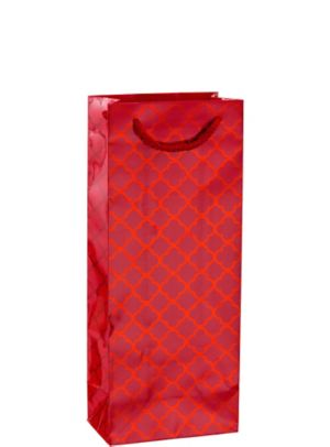 Metallic Red Moroccan Bottle Bag