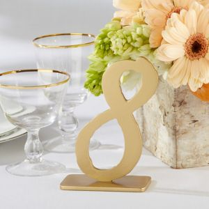 Gold Table Numbers 7 12 6pc Party City
