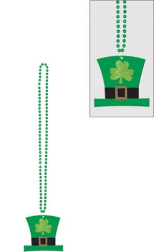 Leprechaun Hat Pendant Bead Necklace