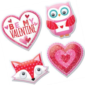 Woodland Friends Valentine's Day Puffy Stickers 1 Sheet
