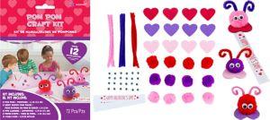 Pom-Pom Love Bug Craft Kit for 12
