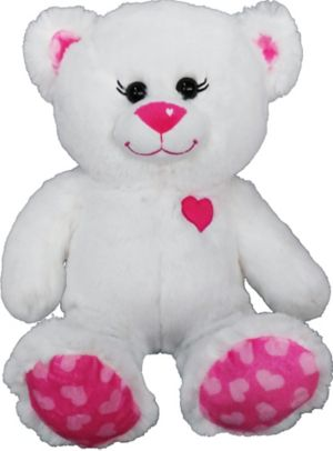 White Sweetie Teddy Bear Plush