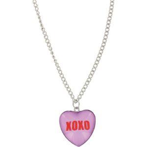 Pink Hugs & Kisses Conversation Heart Necklace