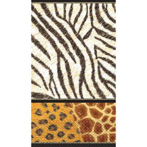 Animal Print Guest Towels 16ct