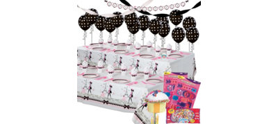 Pink Paris Ultimate Party Kit for 16 Guests