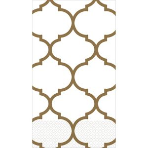 Gold Lattice Premium Guest Towels 16ct