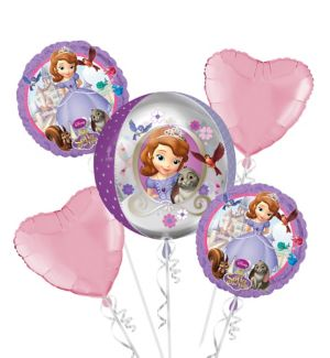 Sofia the First Balloon Bouquet 5pc - Orbz