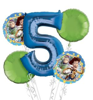Toy Story 5th Birthday Balloon Bouquet 5pc