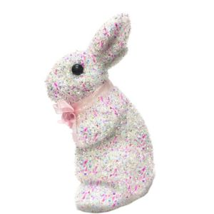 White Tinsel Easter Bunny