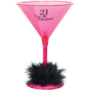21st Birthday Martini Glass