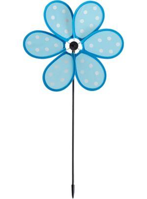 Blue Polka Dot Pinwheel Yard Stake
