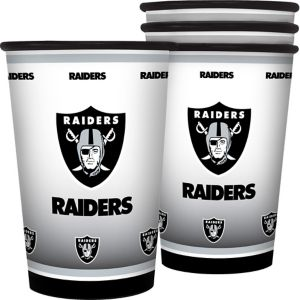 Oakland Raiders Tumblers 4ct