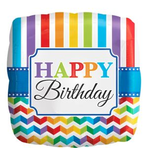 Rainbow Chevron Birthday Balloon