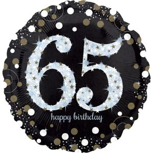 65th Birthday Balloon - Sparkling Celebration