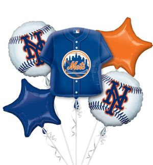 New York Mets Balloon Bouquet 5pc - Jersey