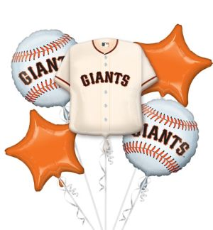 San Francisco Giants Balloon Bouquet 5pc - Jersey