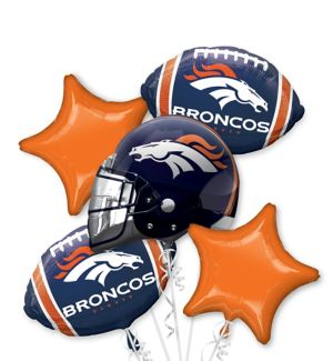 Denver Broncos Balloon Bouquet 5pc