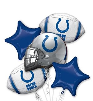Indianapolis Colts Balloon Bouquet 5pc