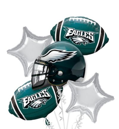 6586570a653 Philadelphia Eagles Football Balloon Bouquet 5pc | Party City