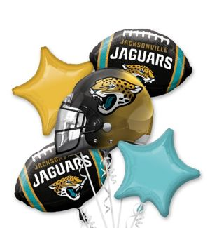 Jacksonville Jaguars Balloon Bouquet 5pc