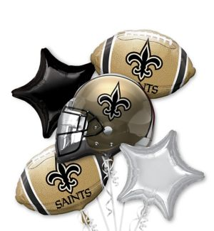 New Orleans Saints Balloon Bouquet 5pc