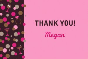 Custom Bachelorette Night Thank You Note
