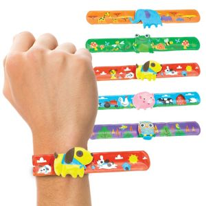 Animal Slap Bracelets 6ct