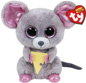 Squeaker Beanie Boo Mouse Plush